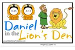 Daniel in the Lion's Den  File Folder Game