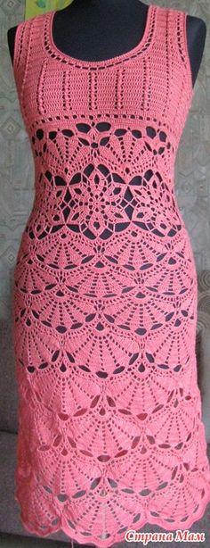 Нарядное платье с веерами крючком. Свяжем? - Вязание - Страна Мам
