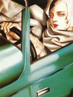 abbie-a-aaronson:    Tamara Łempicka (born Maria Górska) commonly known as Tamara de Lempicka (16 May 1898  18 March 1980) was an Art Deco painter of Polish Jewish and Russian descent and the first woman artist to be a glamour star. A favorite artist of many Hollywood stars she was referred to as the baroness with a brush and was the most fashionable portrait painter of her generation among the haute bourgeoisie and aristocracy painting duchesses grand dukes and socialites. Determined to…
