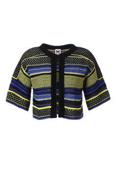 4366d33cf9e9b M-Missoni - BLUE   LIME CROCHET STRIPE JACKET Striped Jacket
