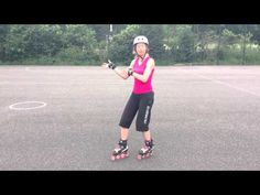 How to stop on skates using a Lunge Stop tutorial on rollerblades or quads for Roller Derby. - YouTube