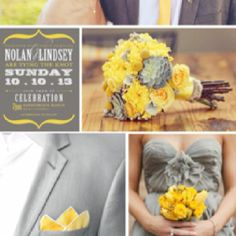 Warm Light Gray and Light Golden Yellow. This combination is especially good for a light spring-light summer combo because light summers pastel creamy lemon is so close to light spring's light golden yellow. And gray is very forgiving if you are a little off in shade.