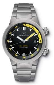 """IWC Aquatimer- Engineered and built like a tank. And of course, water resistant to 2000 meters for all of you, """"deep divers."""""""