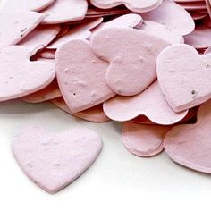 Amazon.com: Heart Shaped Plantable Seed Confetti in PINK Value Pack (two 350-piece bags = 700 pieces of seed confetti). For Valentines Day!