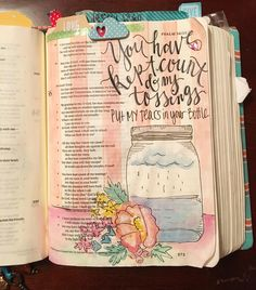 "Psalm 56:8 ""You have kept count of my tossings; put my tears in your bottle."" I…"