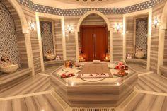 Rixos The Palm Dubai - Stunning! Spa Room Decor, Sauna Steam Room, Spa Rooms, Turkish Bath, Wellness Spa, Hotel Spa, Corner Bathtub, Dubai, Relax