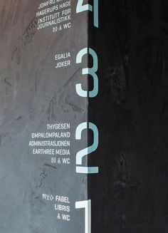 Literature House - Signage by The Metric System Design Studio, Oslo Directional Signage, Wayfinding Signs, Signage Display, Signage Design, Environmental Graphic Design, Environmental Graphics, Branding And Packaging, Identity Branding, Visual Identity