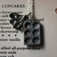 Cupcake Pan and Measuring Spoons Necklace