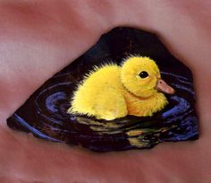 Painted baby duck.