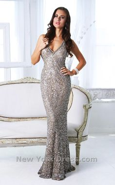 If you want a non traditional wedding gown for your New Year's Eve wedding, Shail K KK3162, ($430) is perfect!