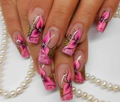 Friendly Nail Art Community with Nail Art Picture and Video Tutorials. Make your nails look awesome and share your nail art designs! Nail Art Designs 2016, Cute Acrylic Nail Designs, Cute Acrylic Nails, Beautiful Nail Designs, Beautiful Nail Art, Cool Nail Designs, Beautiful Flowers, Unique Flowers, Gorgeous Nails