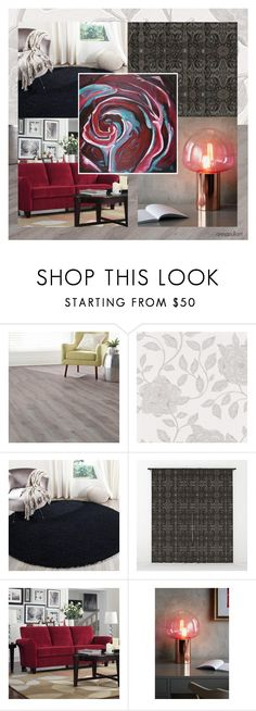 """""""The Heart of a Rose"""" by annacullart ❤ liked on Polyvore featuring interior, interiors, interior design, home, home decor, interior decorating, Home Decorators Collection, Safavieh, Portfolio and Anthropologie"""