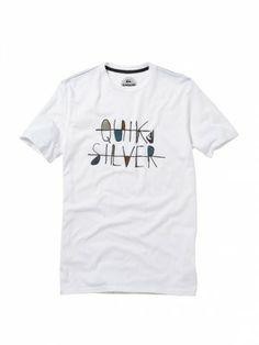 Camiseta Quiksilver Men's Royalty Slim Fit T-Shirt White #Quiksilver#Camiseta
