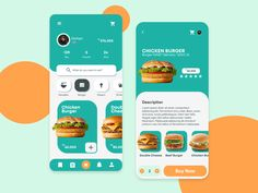 Kanian - Food Application Design designed by Tri Utomo. Connect with them on Dribbble; Food Web Design, Food Graphic Design, App Ui Design, Interface Design, User Interface, Design Design, Design Layouts, Android Material Design, Android App Design