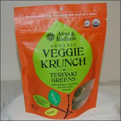New Product Alert!  So in love with this new product from Alive & Radiant!  Veggie Krunch – Teriyaki Greens combine ginger, coconut, carrots and wheat-free tamari to create a scrumptious, crunchy, mouth watering snack!  Every bite is explosive with flavor and can quickly become your new favorite snack!