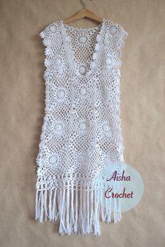 Fabulous Crochet a Little Black Crochet Dress Ideas. Georgeous Crochet a Little Black Crochet Dress Ideas. Black Crochet Dress, Crochet Tunic, Crochet Clothes, Crochet Lace, Crochet Bikini, Knitting Patterns, Crochet Patterns, Crochet Fashion, Couture