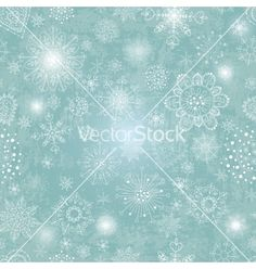 Blue background with snowflake vector - by teirin on VectorStock®