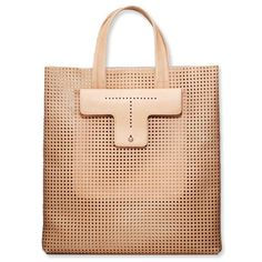 Ann Taylor - AT Handbags Belts - Perforated Leather Tote Work Wardrobe Essentials, Summer Work Wardrobe, Tote Bags, Clutch Bags, Leather Craft, Leather Bags, Leather Purses, Leather Totes, Leather Backpacks