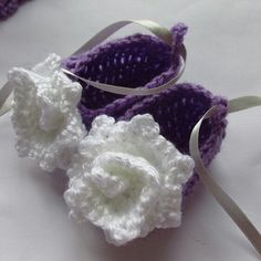 Cute crochet infant dress, headband and shoes