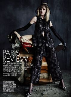 Paris Review – Heidi Mount channels French actress Catherine Deneuve in the March issue of Elle US, photographed by Catherine Servel. The blonde beauty wears the sixties-tinged collections of spring styled by Lori Goldstein. Designs from the likes of Balmain, Giorgio Armani, Versace and Carolina Herrera stand out in the chic studio images. / Hair …
