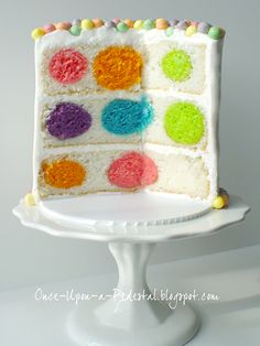 Polka Dot Cake How-to >> Wonderful!