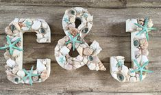 Shell Letters Shell Initials Seashell by ThePaintedPearlSRQ