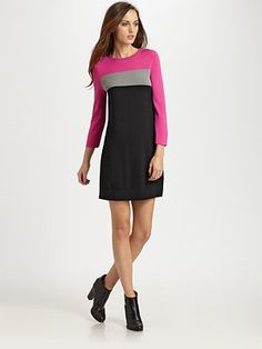 swingy colorblock sheath by DVF