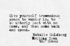 Natalie Goldberg, Writing Down the Bones