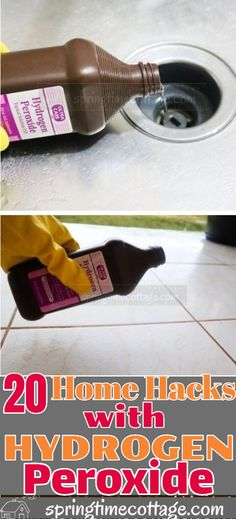Hydrogen peroxide is a cleaner and a good alternative to most household chemicals sold on the market. Use hydrogen peroxide to clean all sorts of household items. Remove stains, get rid of mildew, get rid of mold, and so much more. Here are some household cleaning tips and cleaning hacks you can use in your home with hydrogen peroxide. #cleaninghacks #cleaning #householdhacks