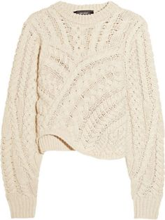 Isabel Marant black Versus cable-knit wool sweater