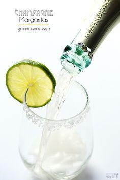 Sparkling Margaritas (Champagne Margaritas) from @Ali Velez Ebright (Gimme Some Oven)
