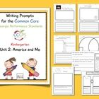 FREE...If you are a Kindergarten teacher following the model teaching units provided by the Georgia Department of Education, then this collection of writi...