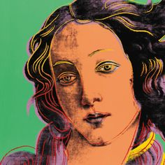 diamondheroes:  Birth Of Venus, Andy Warhol - 1984 (Details)                                                                                                                                                      Plus