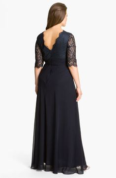 JS Collections Lace & Chiffon Dress (Plus) | Nordstrom
