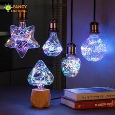 Led Light Bulb A60/Heart/Star/globe rgb led lamp e27 3w novelty string lamp bulb 110/220v Firework lamparas led for home decor