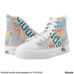 Find brilliant men's sneakers from Zazzle. Whether you like high tops or low top sneakers we have the pair for you. Printed Shoes, Converse Chuck Taylor, High Tops, Cloud, Alphabet, Athletic Shoes, High Top Sneakers, Comfy, Pairs