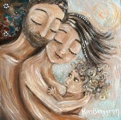 Clear & Bright ~ curly breastfeeding print by Katie m. Berggren