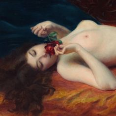 Happy Women, The Witcher, Female Images, Beautiful Birds, Red Roses, Fantasy, Painting, Detail, Aphrodite