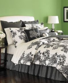 Martha Stewart Collection Bedding, Midnight Trellis 6 Piece Comforter Sets - Bed in a Bag - Bed & Bath - Macy's