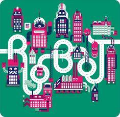 robot-city-map-design-poster