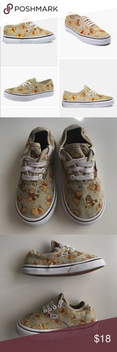 Winnie The Pooh Toddler 9 lace up VANS sneakers These are in good condition, they are sized at a 9 and are very clean. This Winnie the Pooh print was limited edition and hard to find! Vans Shoes Sneakers