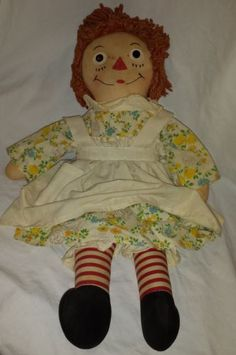 20-Cloth-Georgene-Novelties-Raggedy-Ann-Doll-1938-1963-Era-Original-Clothes