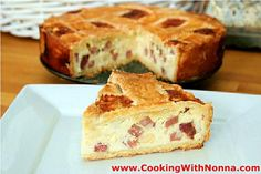 Join me and Nonna Romana to learn how to make a traditional Pizza Rustica, an Italian recipe to make for Easter. Pizza Rustica often is also called Pizzagain. Pizza Rustica, Antipasto, Easter Recipes, Holiday Recipes, Pizza Recipes, Cooking Recipes, Appetizer Recipes, Grandma's Recipes, Desserts