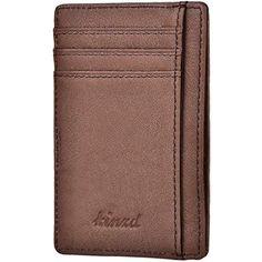 eb1c44c537 Kinzd - Portatessere per carte di credito in Pelle Sottile blocco RFID  #Abbigliamento #Uomo