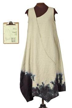 Lady Inkhem, I presume linen lagenlook dress from secret lentil