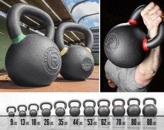 The Rogue Kettlebell features high quality iron ore, a void free surface, single piece casting, and wide flat machined base. See all your options at Rogue Fitness. Crossfit Home Gym, Crossfit Motivation, At Home Gym, Kettlebell Weights, Kettlebell Training, Rogue Fitness, Home Gym Equipment, No Equipment Workout, Fitness Equipment