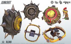 Junkratfrom Overwatch. A close look at the model structure from all angles; a great reference for cosplay. Junkratand Overwatch belongs to Blizzard