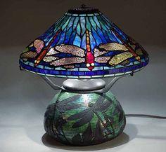 """16"""" Dragonfly Tiffany Lamp"""