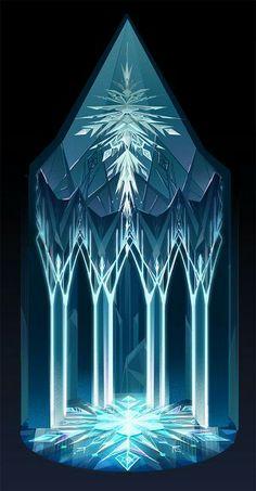 """""""Frozen"""" concept art by Brittney Lee"""