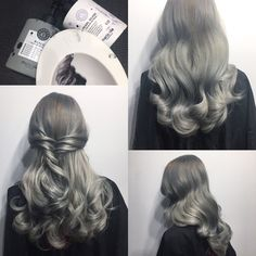 Grey hair made by haarscharf by André oberdrees, Germany #greatlengthextensions